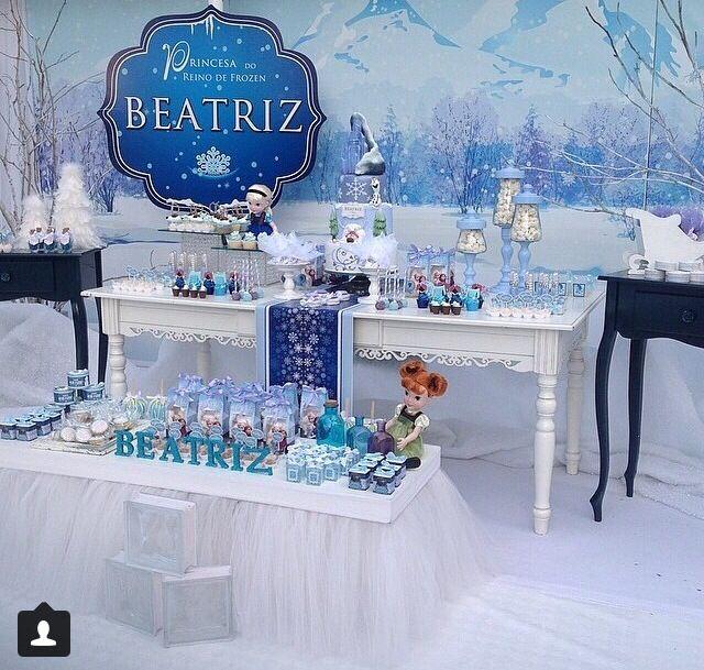 Decorado mesa de postre frozen pinterest mesas - Decoracion fiestas vintage ...