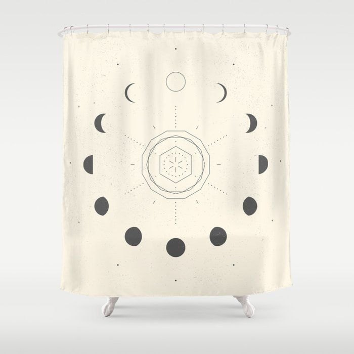 Buy Moon Phases Light Shower Curtain By Naylasmith Worldwide Shipping Available At Society6 Com Just One Of Shower Curtain Curtains Designer Shower Curtains