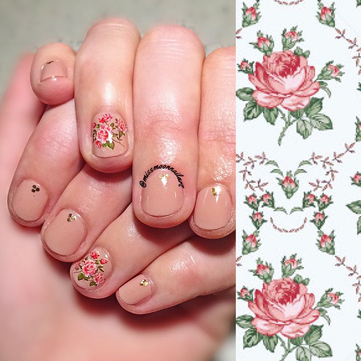 Nude perfection on my friend's nails #nailart #nailartdesign #nailpolishaddict #rosedesign #rosenails #nudecolor #handm #waterdecalsnails #gorgeousnailart #opi #allaboutnailsofficial #adornnails