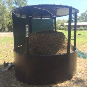 Deluxe Poly Safe Hay Ring And Weather Shield Round Bale
