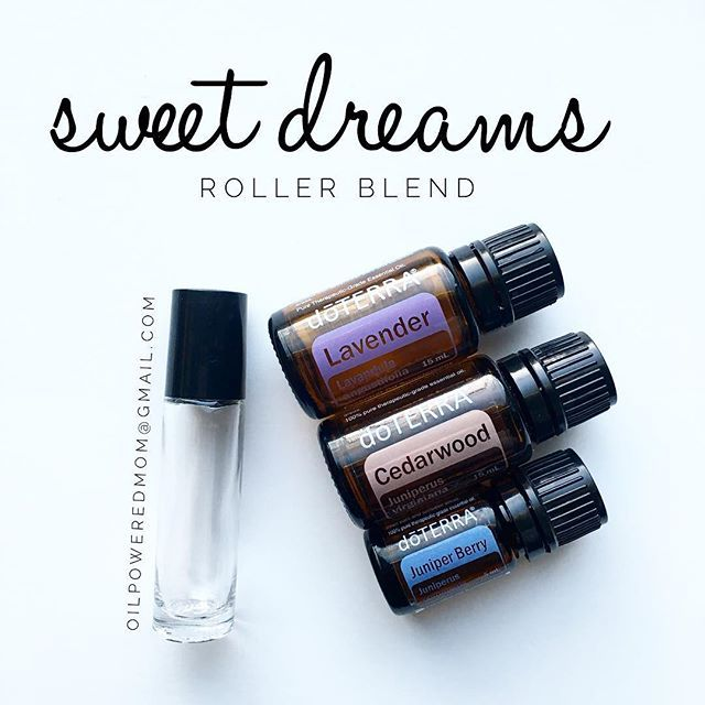 Sweet dreams blend! For little ones: 2 drops each Lavender (or Serenity if they respond better to that), Cedarwood, and Juniper Berry For adults: 5 drops each. Use a 10 ml roller. Fill to the top with FCO. Apply to bottoms of the feet, behind the ears, or a swipe across the pillow. Sweet dreams!