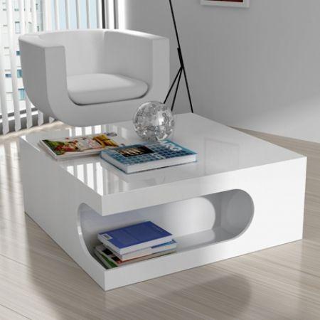 Mesa de centro marte - mesa lacada blanca brillo