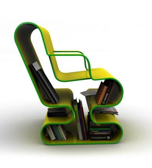 Book Chair--would be a great chair for studying, all school books handy!