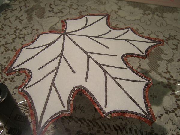 Maple Leaf Mug Rugs - Pictorial Tutorial & Pattern