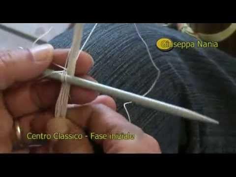 Centro Classico in filet in tondo - Fase iniziale