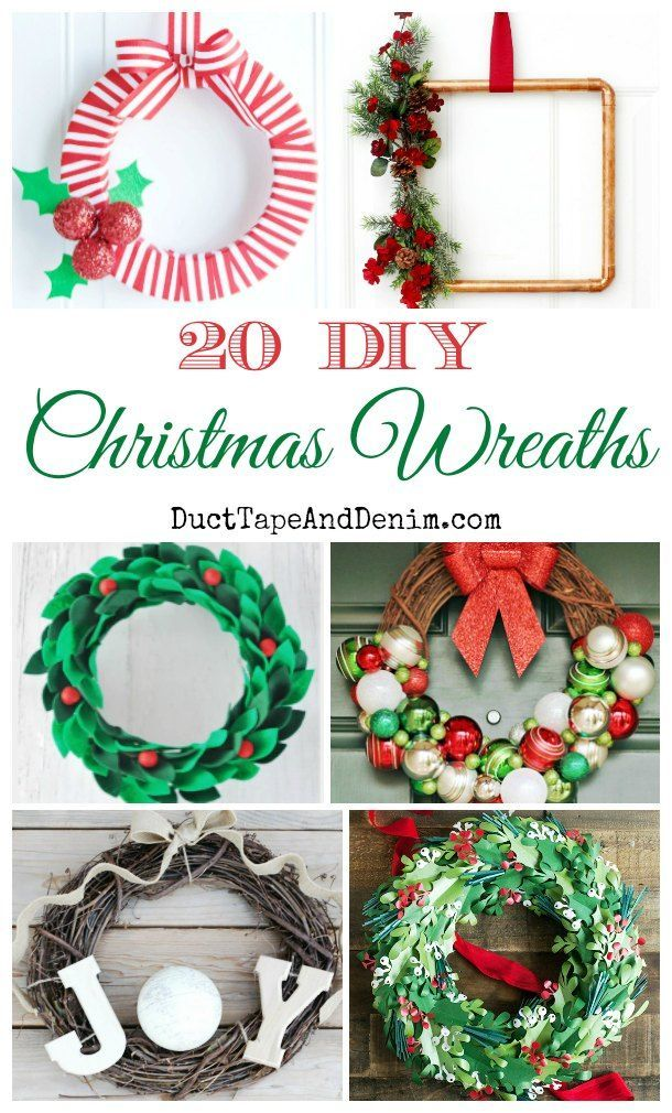 20 DIY Christmas Wreaths Ornament WreathDiy WreathWreath IdeasSanta