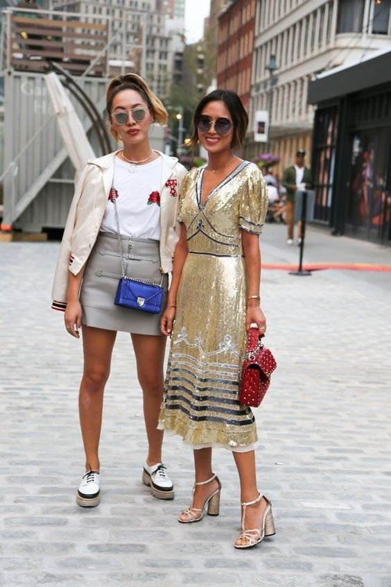 I love embellished clothes, but I've never been a fan of sequins. Sometimes, they can make a piece look tacky, but there are pretty items. They are being worn again, so I selected stylish outfits to inspire.