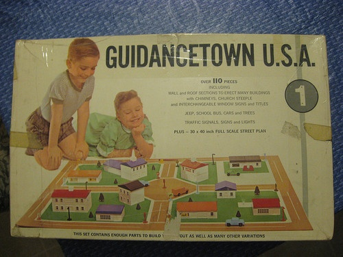 GUIDANCETOWN U.S.A. is in exact scale with the CHILD GUIDANCE RAILROAD line and the CHILD GUIDANCE HIGHWAY SYSTEM.Guidance Highway, Buildings Plays, Guidancetown U S A, Guidance Railroad, Floors Mats, Guidancetown Buildings, Street Lights, Favorite Toys, Child Guidance