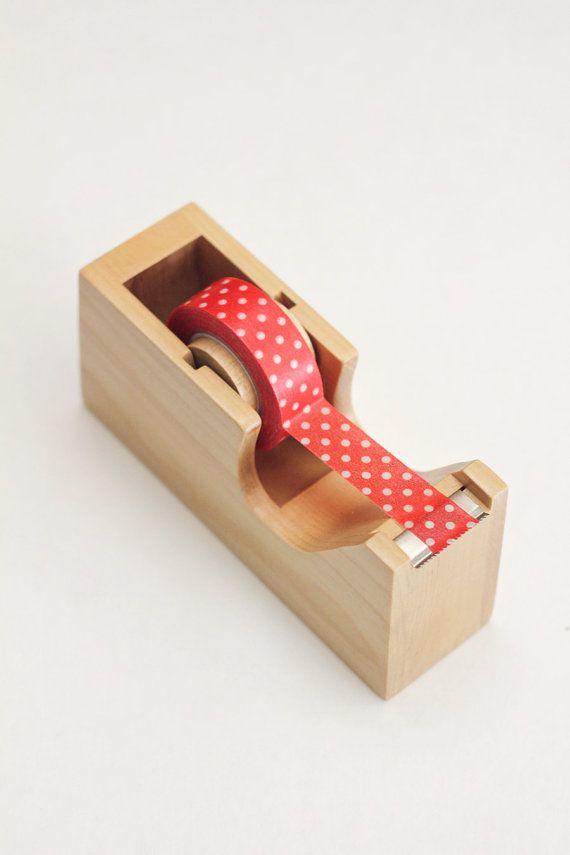 Tape Dispenser - Wood Washi tape dispenser - Japanese tape