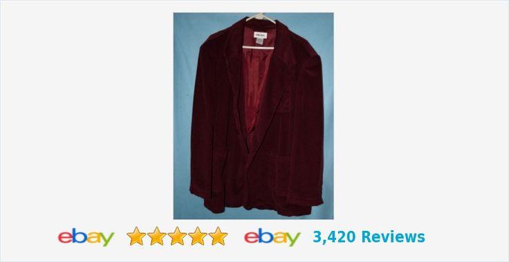 King Size 52 dark burgandy/wine corduroy blazer #52R | eBay #kingsize #twobutton