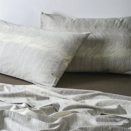 Minimalist Abstract Striped Duvet Quilt Cover Dusty Taupe Tan Light Grey Geo Brush Stroke Pattern 100-percent Cotton Sateen 400TC 3 Piece Bedding Set (Queen, Bone) #Minimalist #Abstract #Striped #Duvet #Quilt #Cover #Dusty #Taupe #Light #Grey #Brush #Stroke #Pattern #percent #Cotton #Sateen #Piece #Bedding #(Queen, #Bone)