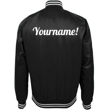 Design A Trendy Bomber Jacket With Your Name | Nylon bomber jacket ...