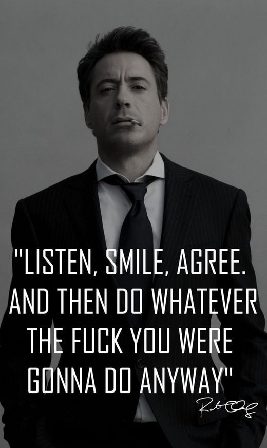 Do what you were gonna do anyway. Robert Downey Jr quote