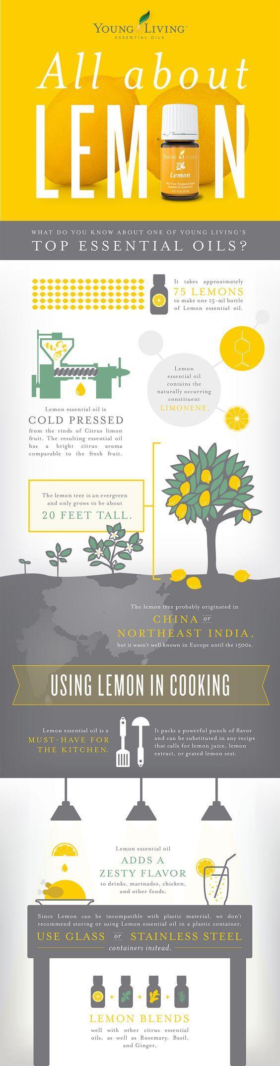 Fun facts about Lemon essential oil!