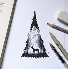 Dibujos creativos de sketches del artista italiano Alfred Basha
