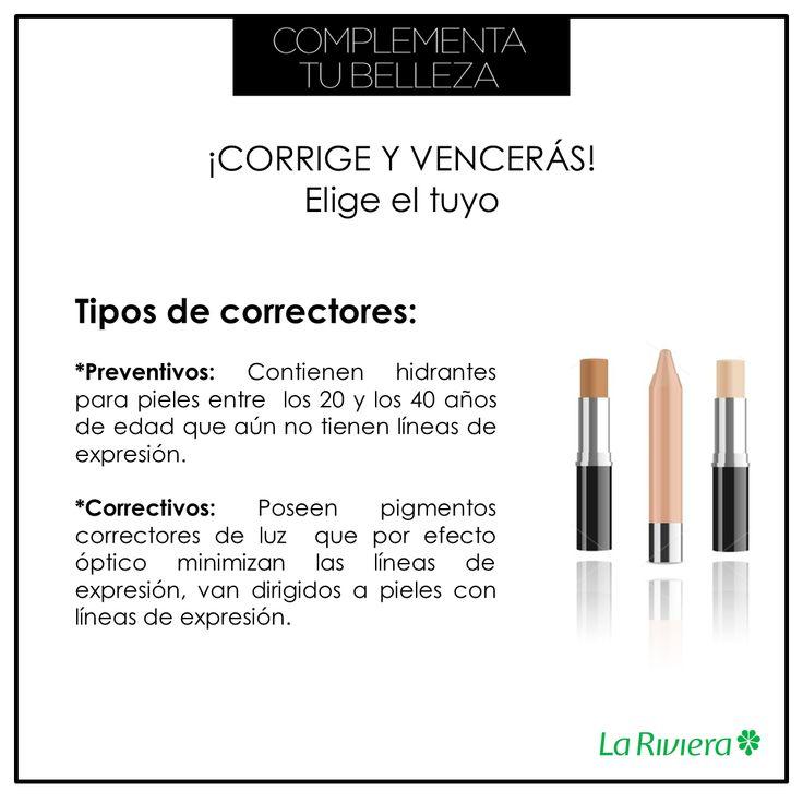 ¡Elige el corrector indicado de acuerdo a tu necesidad! #TipsLaRiviera