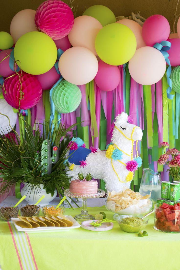 {Submission} A Festive Llama Birthday Party Taco Bar