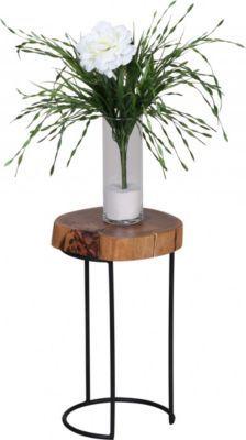 Wohnling WOHNLING Beistelltisch Massiv Holz Akazie Wohnzimmer Tisch Metallbeine Landhaus Stil Baumstamm Form Echt Natur Jetzt Bestellen Unter
