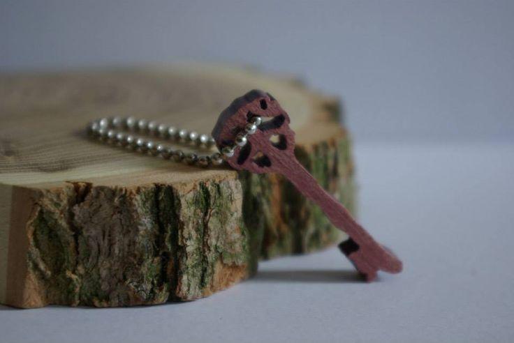 Breloczek z drewna egzotycznego-amarantu Amaranth charm