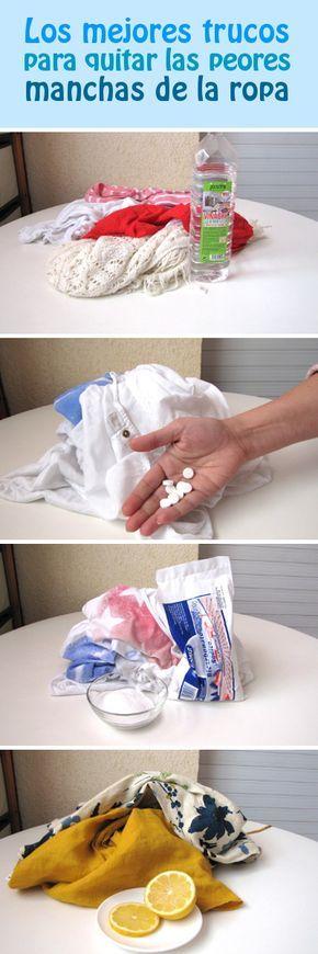 Los mejores trucos para quitar las peores manchas de la ropa