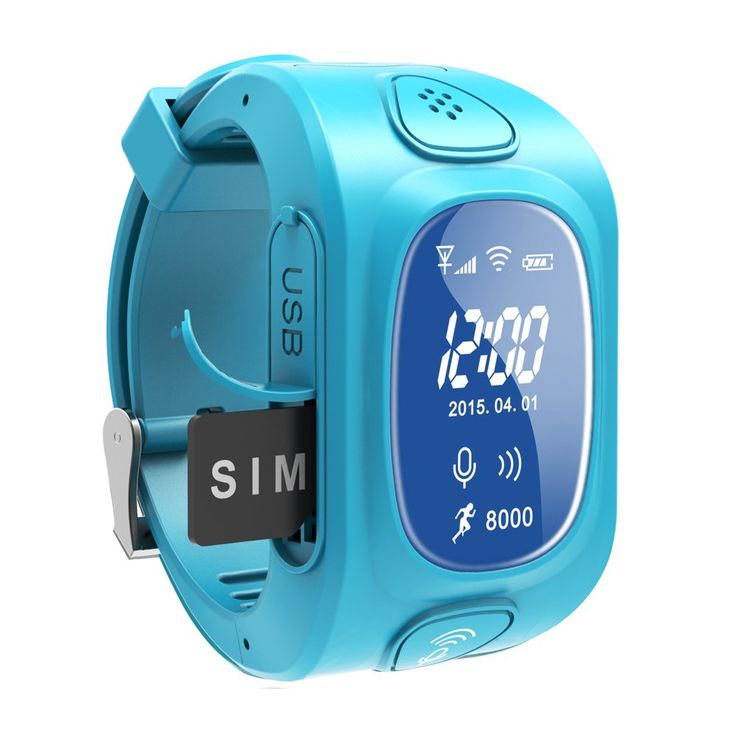 Ypc3 Smart Watch for Kids or Old People,mini Gps Tracker,anti-lost Watch (blue). One Button SOS. Portable GPS. Electric fence. Remote monitoring. History Route: records generated in the last 90 days.