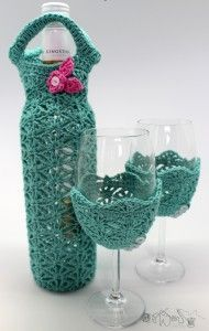 Wine Time - wine bottle bags and wine glass covers!