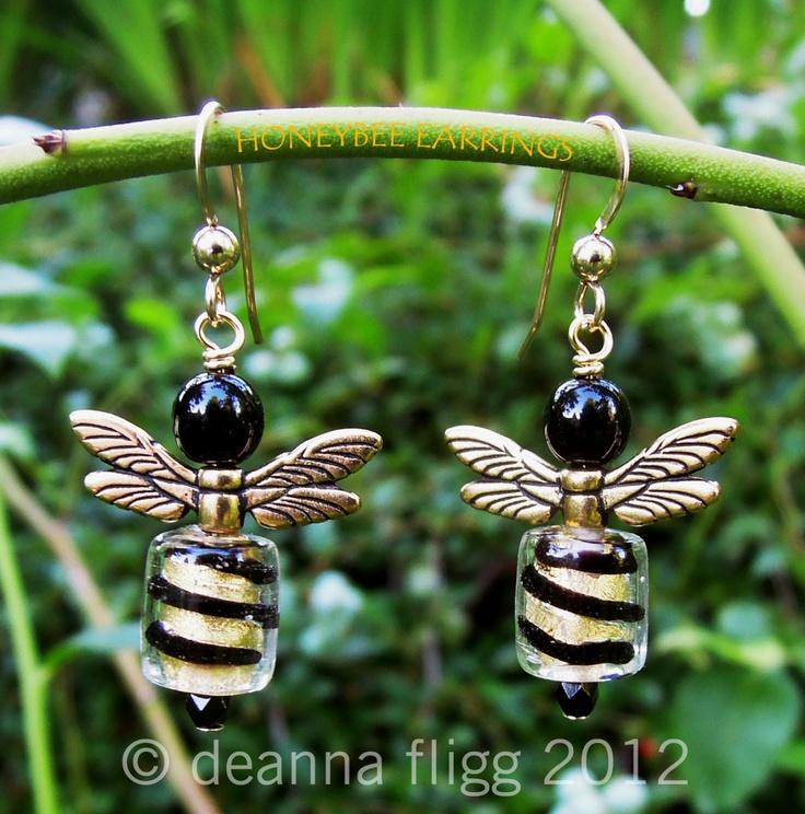 Honeybee Earrings. $25.00, via Etsy.