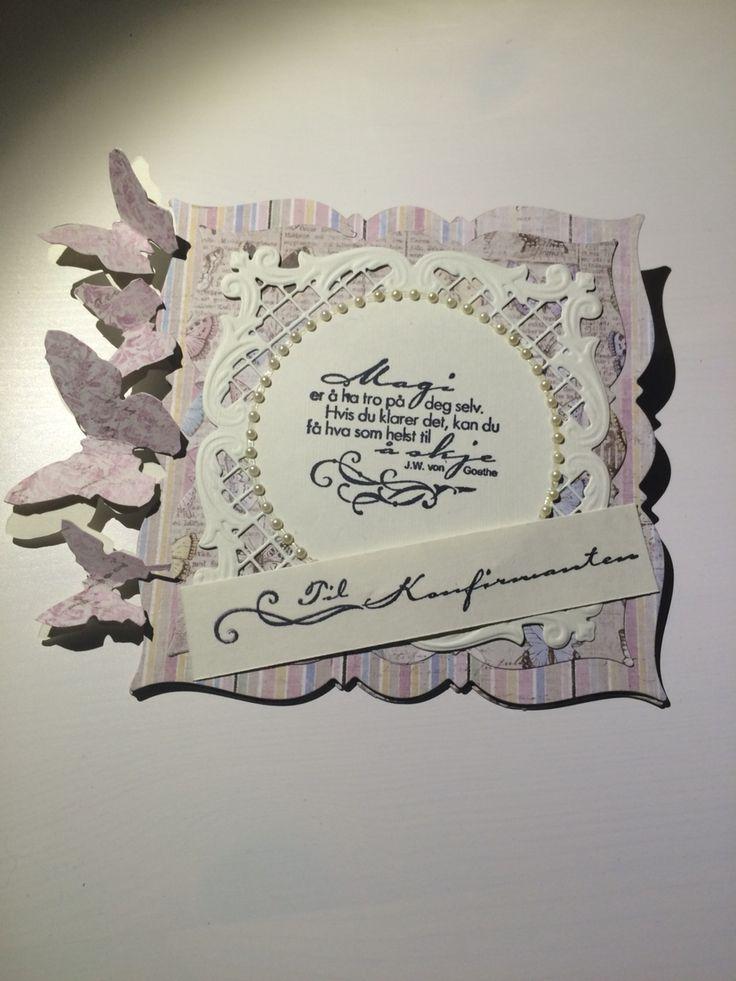 Tim Holtz, Joy Crafts, Maja Design, Stempelglede, konfirmasjon