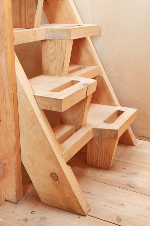 By Simone Borcherding stylist   writer   spacemaker. Eco-friendly stairs using wood from alien vegetation.