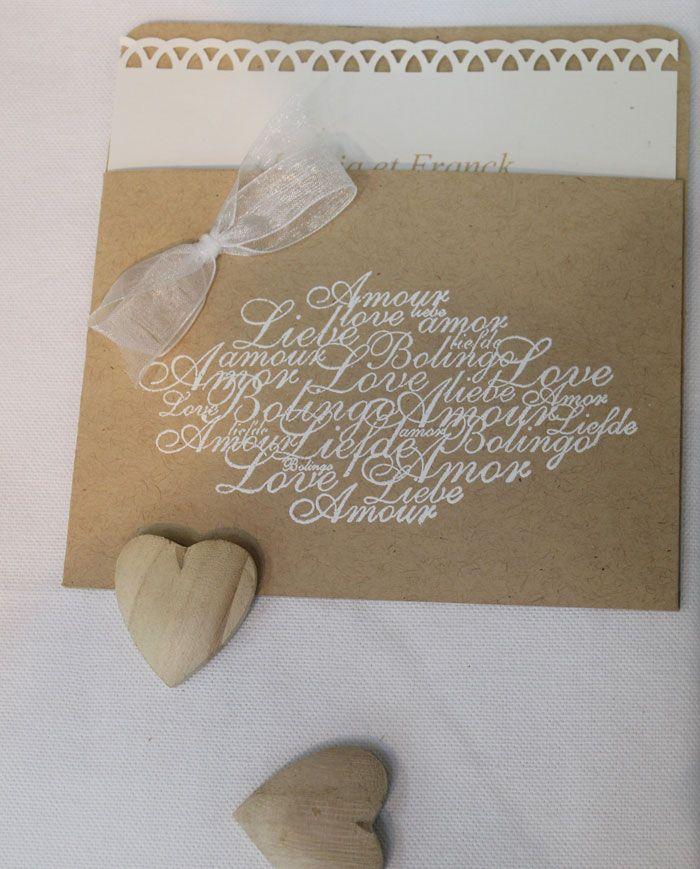 Les 25 meilleures id es de la cat gorie menu mariage fait main sur pinterest invitations - Deco jardin fait main caen ...