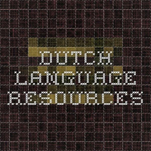 Dutch language resources