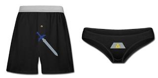 Zelda panties underwear set for geek couple - Master Sword and pedestral ($40.99)
