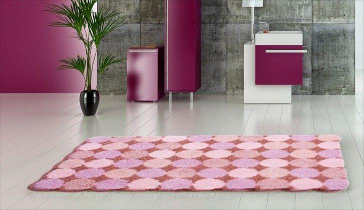 Agarthi - Koupelnová předložka 60x100 cm (broskvová-růžová)