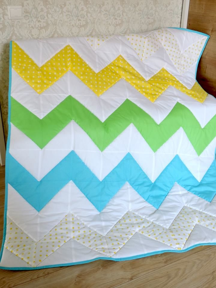 Additionally you can order this as a set with decorative pillow too.  Order here: https://www.etsy.com/listing/469689838/baby-boy-quilt-zig-zag-quilt-boy-bedding?ref=shop_home_active_21