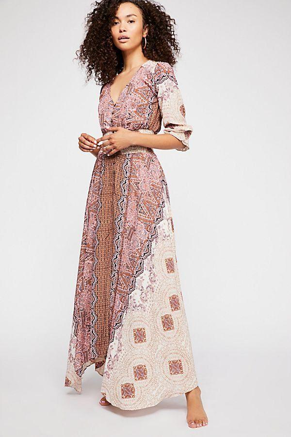 928f5b10e6f Mexicali Rose Maxi Dress - Patterned Pink Boho Maxi Dress