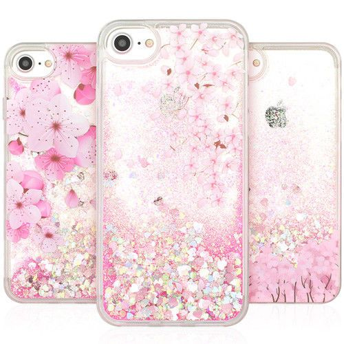 Cherry Blossom Glitter Case Iphone 6 6s Case Iphone 6 6s Plus Case 3 Types Case Doori Diy Phone Case Apple Phone Case Cool Phone Cases