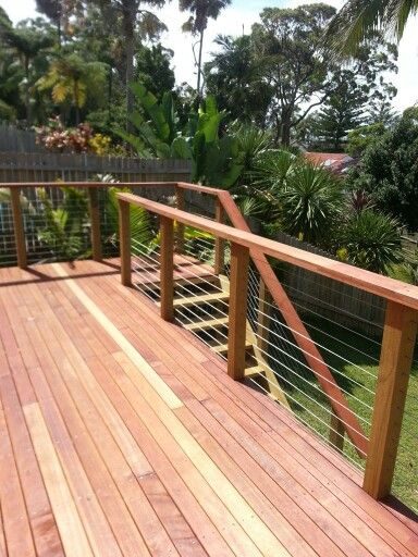 Stomp landscapes design and construction. Merbau decking and stairs.
