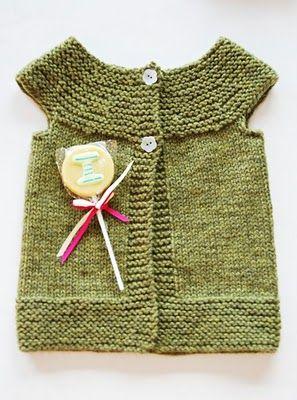 nice top down knit vest, no pattern