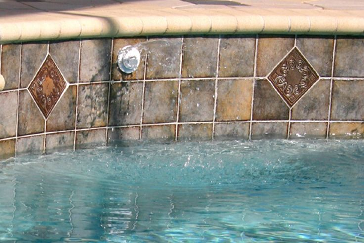 69 best fountains images on pinterest water features fountain and tucson for Best thinset for swimming pool tile
