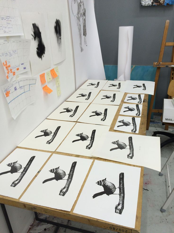 Prints in the studio. Vastiane Tamayo