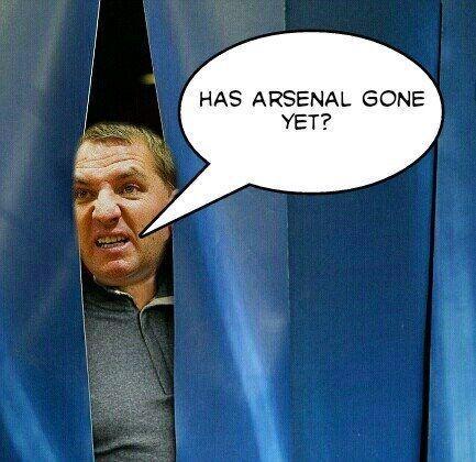 Manager Liverpoolu chowa się za kotarą • Brendan Rodgers boi się Arsenalu Londyn • Śmieszne memy w piłce nożnej • Wejdź i zobacz >>