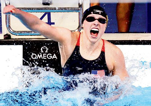 She swims like Katie Ledecky #swimming #USA #Olympics