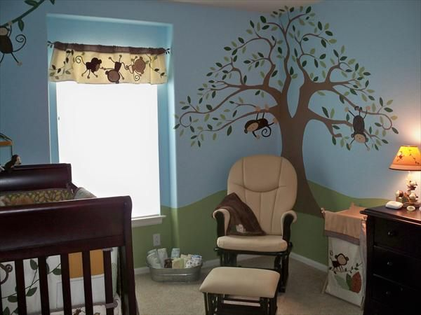 Tree Monkey Nursery Blue Future Pinterest And Baby