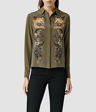 AllSaints Womens Shirts | Denim, Lace & Silk
