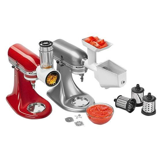 Fingerhut Kitchenaid Stand Mixer Accessory Set With Food Grinder