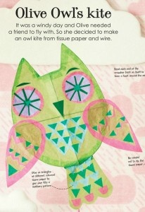 Owl Kite How To from the book Creative Creatures by Donna Wilson. @Red Ted Art walks you through the owl kite building process, along with a review of the book, Creative Creatures.