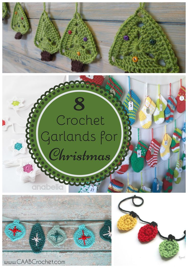 8 Free Crochet Garland Patterns for Christmas. Round up from Cute As A Button Crochet & Craft.