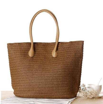 Bohemia Style Summer Fashion Designer Shopping Tote Beach Bag Knitted Straw handbags Shoulder Bag Purse Woven travel Bags Li373
