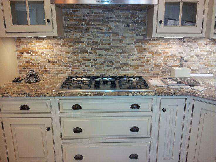 31 best joey39s kitchen images on pinterest backsplash for Granite backsplash with tile above