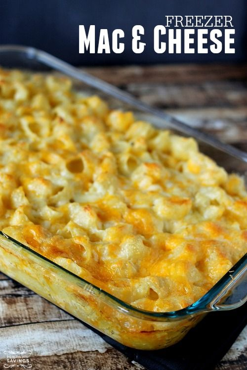 Easy Freezer Mac & Cheese Recipe! Perfect last minute dinner idea to make ahead of time!